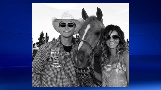 Tuf Cooper, Rio, and Tiffany appear in an undated photo (courtesy: Tuf Cooper's rodeo team)