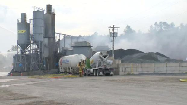 Montreal Cement Plants : Major fire destroys buildings at halifax concrete plant