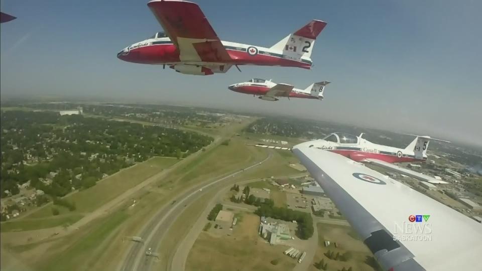 CTV Saskatoon: Flying with the Snowbirds