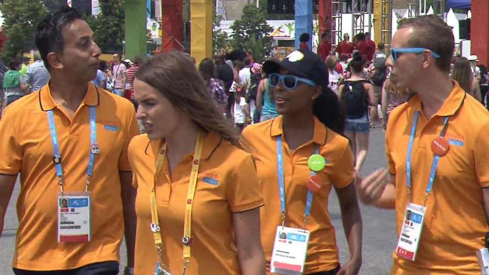 Originally, 63,000 people signed up to be volunteers at the Games. Approximately half of them went on to secure volunteer work at the sporting event.