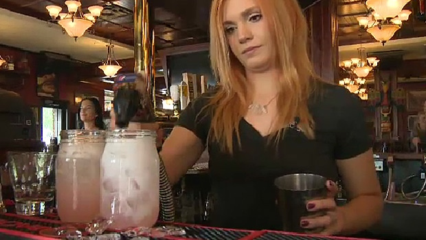 Celeste Bouchard, a bartender at Hudsons on Whyte, found a way to give back after receiving a $1,000 tip.