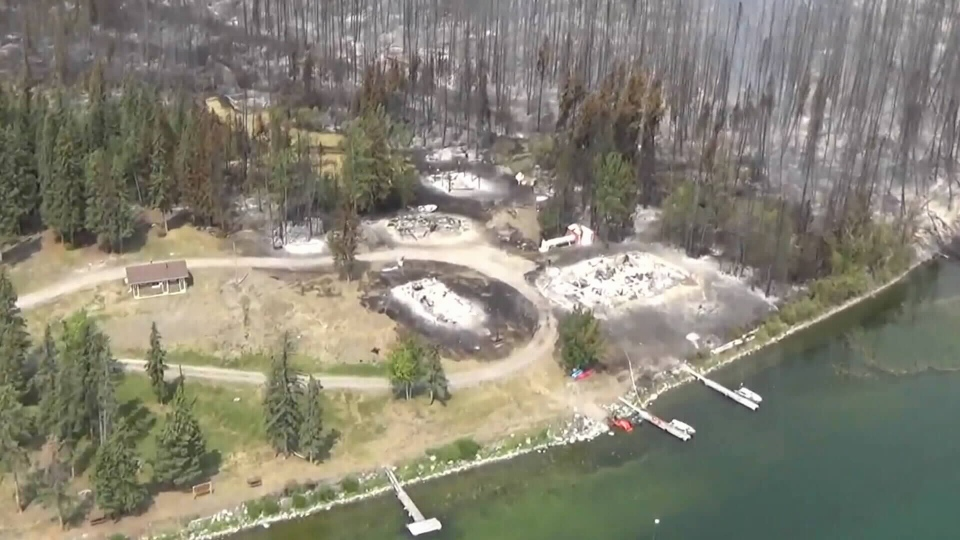 Many homes have been destroyed in the Puntzi Lake fire (Cariboo Regional District).