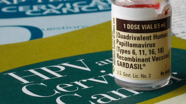 One dose of the vaccine Gardasil, developed by Merck & Co., is displayed in this Friday, Feb. 2, 2007 file photo, in Austin, Texas. THE CANADIAN PRESS/ AP - Harry Cabluck