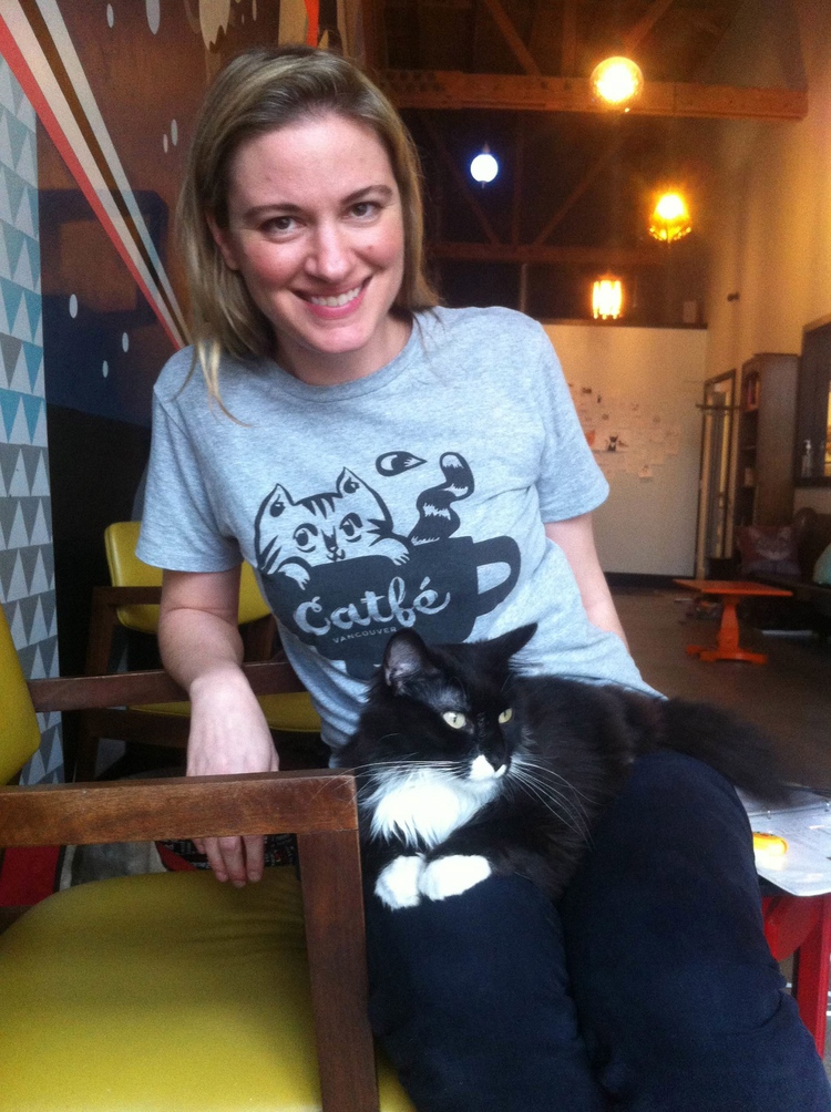 Cat lover Michelle Furbacher is leading the Catfé movement in Vancouver (Catfé Facebook).