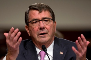 U.S. Defense Secretary Ash Carter testifies on Capitol Hill in Washington in this July 7, 2015 photo. AP has learned that Pentagon leaders are finalizing plans aimed at lifting the ban on transgender individuals serving in the military. (AP / Carolyn Kaster)