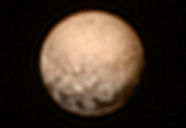 NASA&#39;s New Horizon probe has reached Pluto. Here&#39;s a look back at their first face-to-face with our other neighbours in the solar system. <br><br>Image of Pluto from New Horizons<br><br> The colour version of the July 3 LORRI image was created by adding colour data from the Ralph instrument gathered earlier in the mission. (NASA/JHUAPL/SWRI)