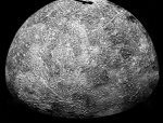 The Mariner 10 spacecraft imaged the region of Mercury during its initial flyby of the planet. Mariner 10 was launched in 1974. The spacecraft took images of Venus in February 1974 on the way to three encounters with Mercury in March and September 1974 and March 1975. The spacecraft took more than 7,000 images of Mercury, Venus, the Earth and the Moon during its mission. (NASA/JPL)