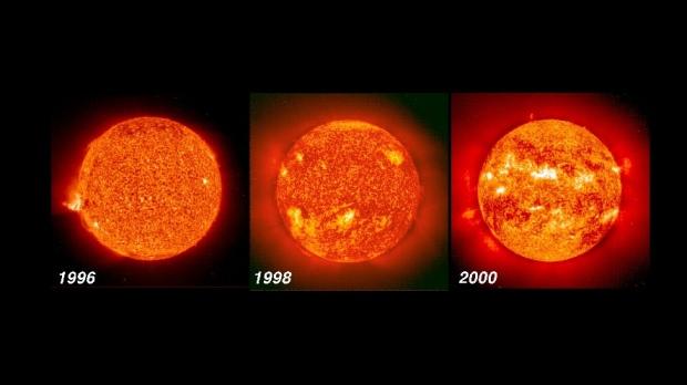 NASA image showing solar activity