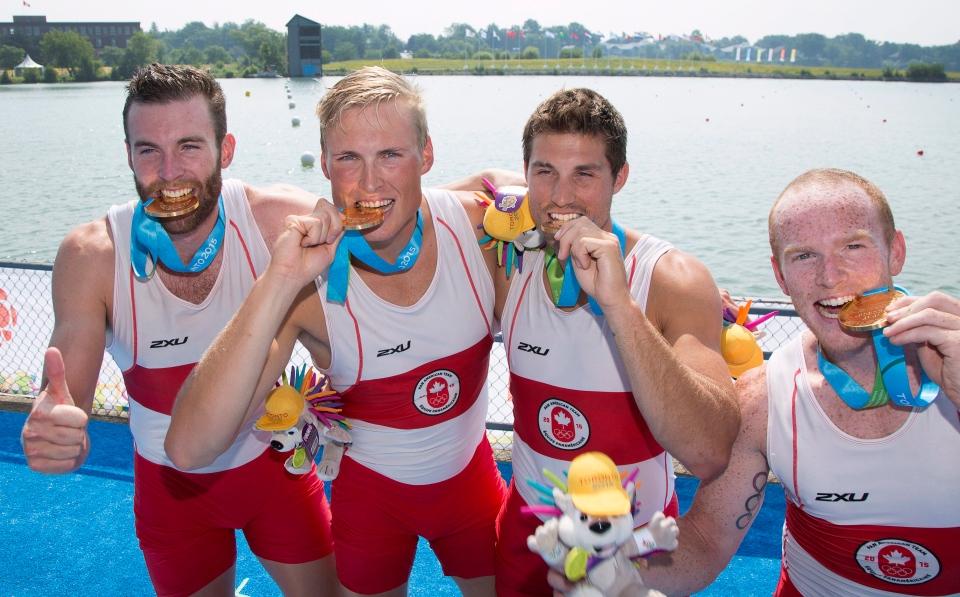 Men's coxless team wins Pan Am gold