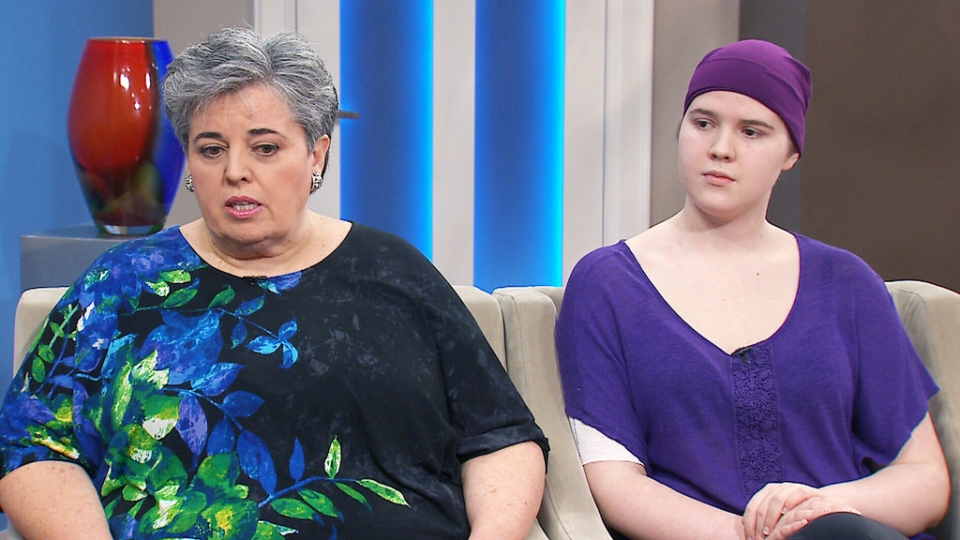 Frances Hillier and her 18-year-old daughter Laura appear on CTV's Canada AM on Tuesday, July 14, 2015.