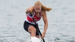 Canada's Laurence Vincent Lapointe paddles her way to a gold medal in the women's C1 200m canoe race at the 2015 Pan Am Games in Welland, Ont., Tuesday, July 14, 2015. (Aaron Lynett/THE CANADIAN PRESS)