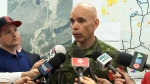 Brig.-Gen. Wayne Eyre says a soldier who became lost while battling wildfires in northern Saskatchewan has been found on July 14, 2015.
