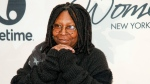 """Whoopi Goldberg of """"The View"""" is seen in New York, on  April 24, 2015. (Andy Kropa/Invision/AP)"""
