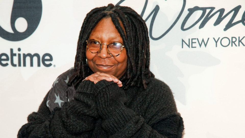"Whoopi Goldberg of ""The View"" is seen in New York, on  April 24, 2015. (Andy Kropa/Invision/AP)"