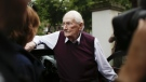 Former SS sergent Oskar Groening arrives for the judgement at the trial against him in in Lueneburg, Germany on July 15, 2015. (AP / Markus Schreiber)