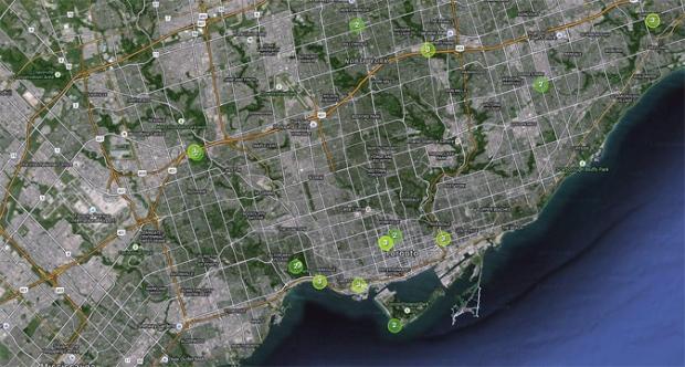 AirSensors map