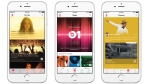 This combination of product images provided by Apple Inc. shows, from left, the 'For You' section, the 'Radio' section, and the 'Connect' sections of the Apple Music app, displayed on an iPhone 6. (Apple)