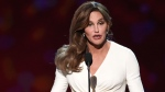 Caitlyn Jenner accepts the Arthur Ashe award for courage at the ESPY Awards at the Microsoft Theater on Wednesday, July 15, 2015, in Los Angeles. (Chris Pizzello / Invision / AP)