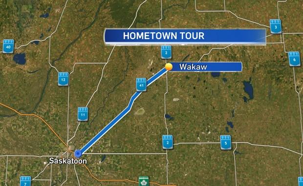 Wakaw Map