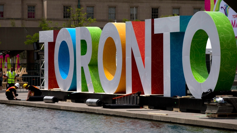 The iconic Toronto sign is seen in this undated file photo. (AP / Rebecca Blackwell)