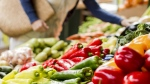 Shoppers browse the vegetables on display in a grocery store. (Goran Bogicevic / shutterstock.com)