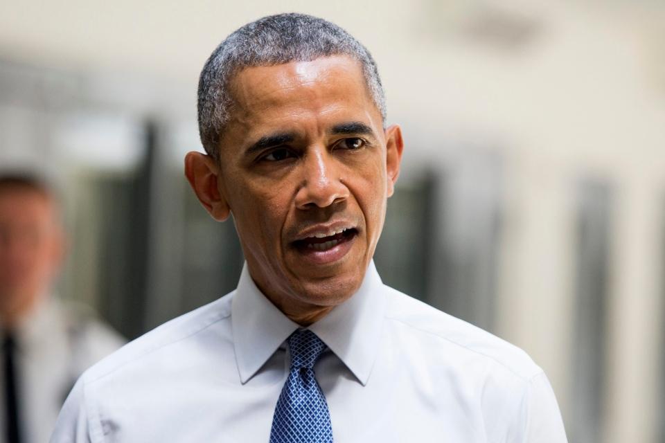 President Barack Obama speaks at the El Reno Federal Correctional Institution, in El Reno, Okla., Thursday, July 16, 2015. (AP/Evan Vucci)