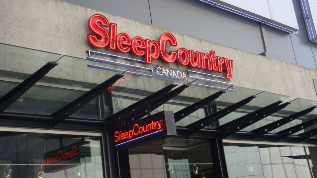 Sleep Country store sign