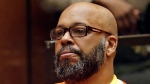 Marion Hugh 'Suge' Knight sits for a hearing in his murder case in Superior Court in Los Angeles on July 7, 2015. (Patrick T. Fallon / AP)