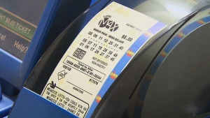 The $55 million jackpot in Friday night's Lotto Max draw was won by a single ticket that was sold somewhere in Quebec.