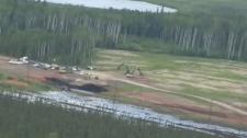 Aerial - Nexen pipeline spill