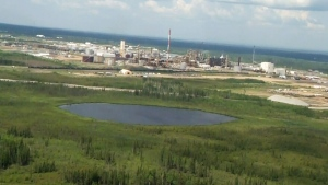 A view of Nexen's Long Lake operations near Anzac, Alta., on July 17, 2015.