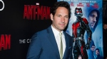 "Paul Rudd attends a special screening of ""Ant-Man"" hosted by The Cinema Society and Audi at the SVA Theatre on Monday, July 13, 2015, in New York. (Charles Sykes/Invision/AP)"