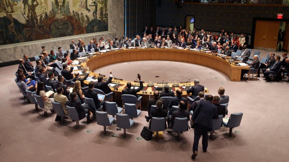 Security Council vote at UN headquarters