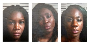 Monique Boakye-Yiado (centre), of Brampton, Ont., Amy Walker (left), of Kitchener, Ont., and Aleesha Williams (right), of Mississauga, Ont., are seen in these handout photos supplied by the Port Authority of New York and New Jersey. (Port Authority of New York and New Jersey / The Canadian Press)