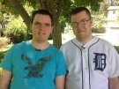 Brothers Aaron and Cornelius Wiebe rescued a man from his burning car on Highway 3 last week in Leamington, Ont., July 20, 2015. (Michelle Maluske / CTV Windsor)
