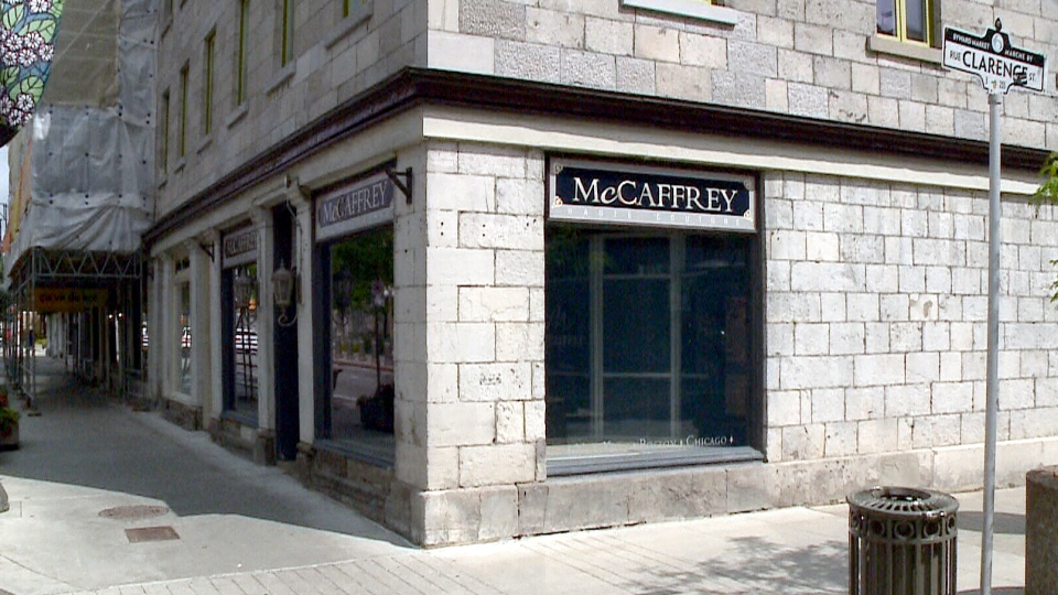 The outside of bridal shop McCaffrey Haute Couture in downtown Ottawa on Sussex Drive on July 21, 2015.