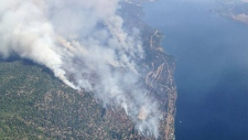Westside Road Fire near Kelowna, B.C.