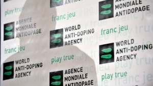 FILE - The World Anti-Doping Agency offers a news conferences in Lausanne, Switzerland, on Feb. 24, 2009. (AP Photo/Keystone, Laurent Gillieron)