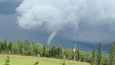 Funnel cloud spotted over Calgary