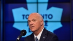 Lou Lamoriello attends a news conference to announce that he has been named the new general manager of the Toronto Maple Leafs, in Toronto, Thursday, July 23, 2015. THE CANADIAN PRESS/Galit Rodan