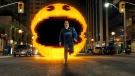 Josh Gad as Ludlow chased by Pac-Man in Columbia Pictures' 'Pixels.' (Sony Pictures)