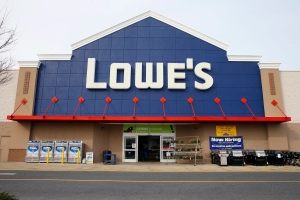 This March 25, 2014 photo shows a Lowe's store in Philadelphia. (AP Photo/Matt Rourke)
