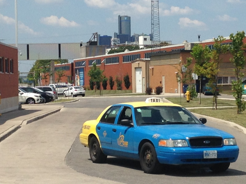 A Windsor taxi cab in seen in Windsor, Ont., July 24, 2015. (Chris Campbell / CTV Windsor)