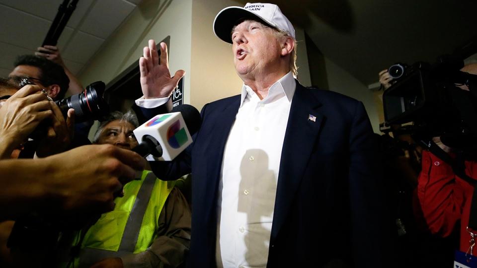 politics donald trump sudden force looming over republican presidential debate