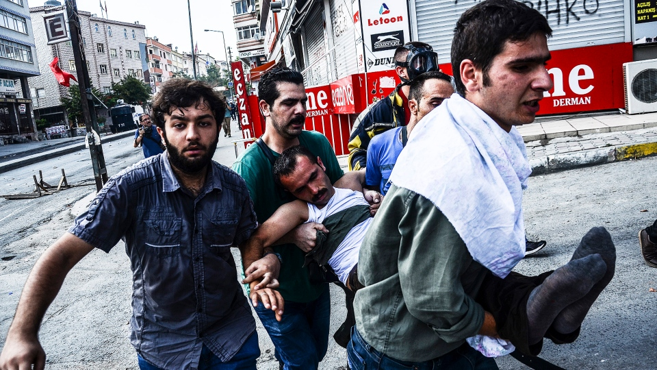 Turkey ISIS Clashes Protests