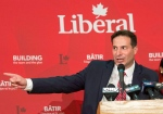 Marco Mendocino speaks after he won the Liberal nomination for the Toronto riding of Eglinton-Lawrence on Sunday, July 26, 2015. (Salvatore Sacco / The Canadian Press)
