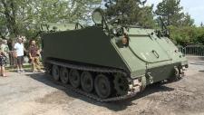 Tank on display in Ottawa
