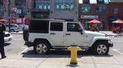 Owner's Jeep illegally parked