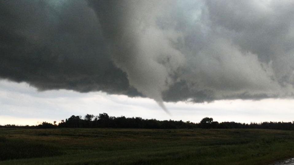 Tornado warning in Manitoba