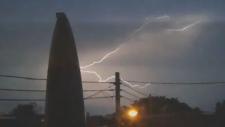 Extended: Horizontal lightning over Montreal